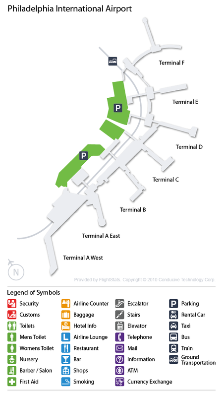 Philadelphia Airport Map For Pennsylvania Choice Image Diagram - Phl terminal map